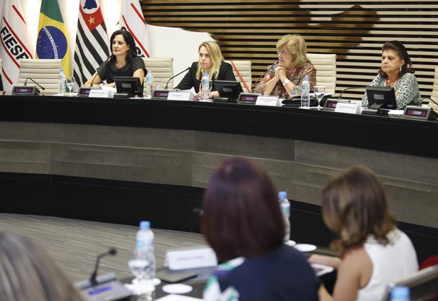 Da esquerda para a direita: Monica, Silvia, Maria Celina e Luiza no lançamento do Will. Foto: Everton Amaro/Fiesp