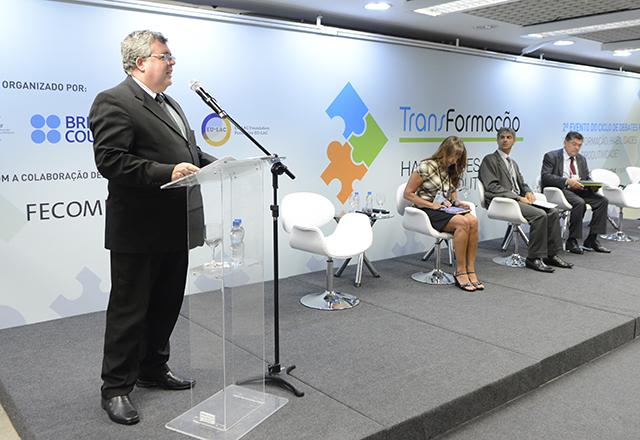 O diretor titular adjunto com Derex Vladimir Guilhamat no Ciclo de Debates com o BID. Foto: Helcio Nagamine/Fiesp