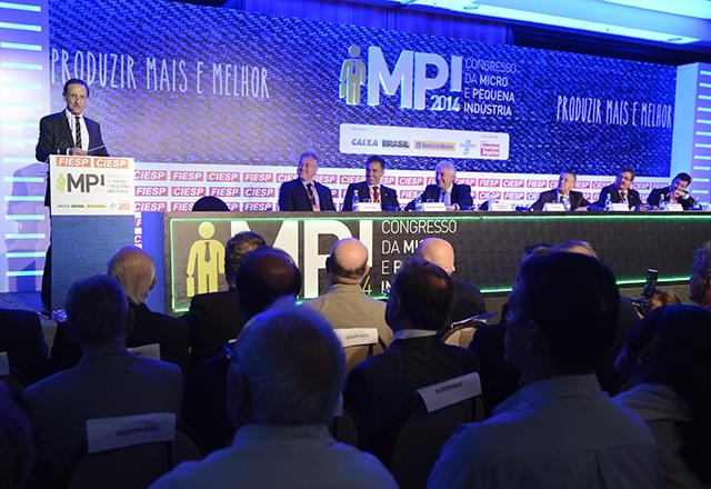 """Skaf na abertura do MPI: """"O caminho é simplificar, baratear"""". Foto: Helcio Nagamine/Fiesp"""