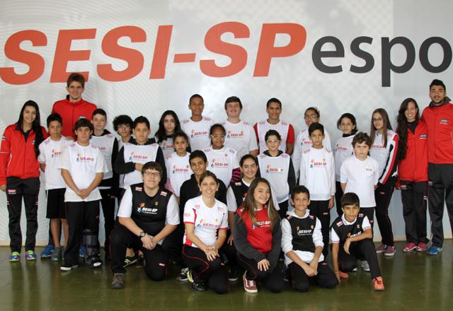 Os embaixadores do esporte em Santo André: disciplina, trabalho em equipe e respeito. Foto: Caio Lopes/Fiesp