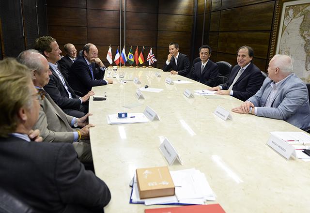 A reunião com representantes do C6 na Fiesp: experiências da Rússia e da China em debate. Foto: Helcio Nagamine/Fiesp