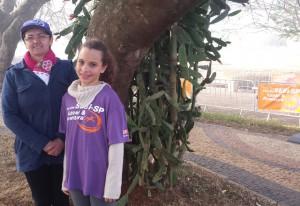 Nilza e a neta Marcelle: domingo em família. Foto: Isabela Barros/Fiesp