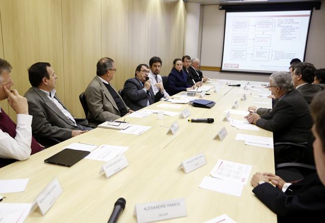 A reunião do GT de Segurança em Edificações: lei federal para as construções existentes. Foto: Beto Moussalli/Fiesp