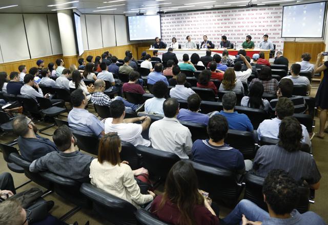 O esquenta do Hackathon: maratona de desenvolvimento de aplicativos será realizada nos dias 20 e 21 de setembro. Foto: Beto Moussalli/Fiesp