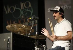"""Pipi: """"Todas essas influências que tenho foi por ter ouvido muita música"""". Foto: Beto Moussalli/Fiesp"""