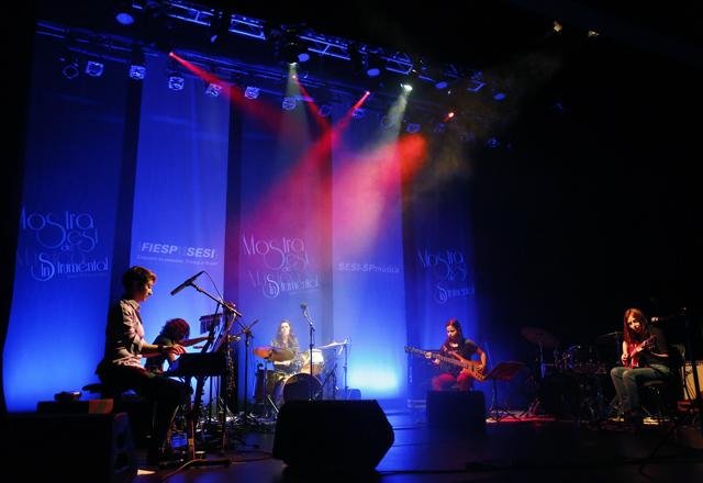 O Quarteto Elas em sua apresentação na Mostra: elementos brasileiros. Foto: Beto Moussalli/Fiesp