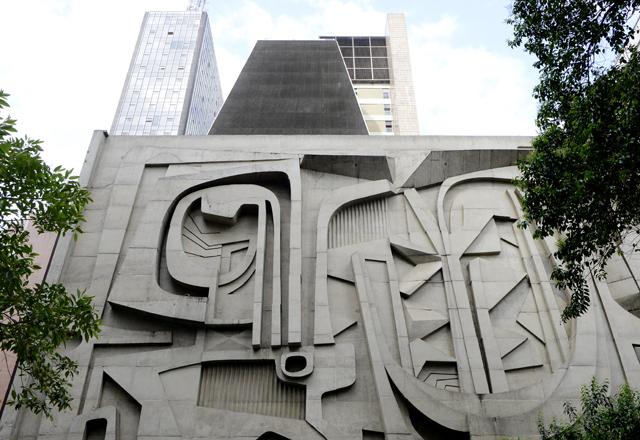 Um tesouro na fachada dos fundos do prédio, por Burle Marx e Haruyoshi Ono. Foto: Beto Moussalli/Fiesp
