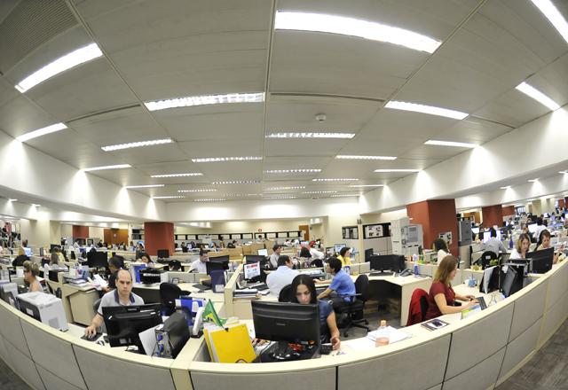 O andar intermediário, no qual trabalham 355 pessoas. Foto: Everton Amaro/Fiesp