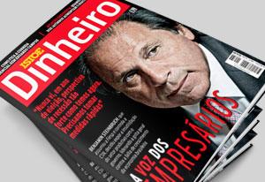 A capa da Istoé Dinheiro com o presidente da Fiesp. Foto: Reprodução