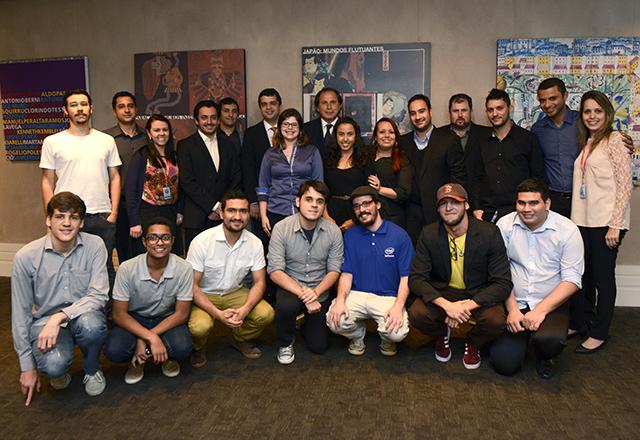 Steinbruch (no centro) recebeu os vencedores do Hackathon. Foto: Hélcio Nagamine/Fiesp