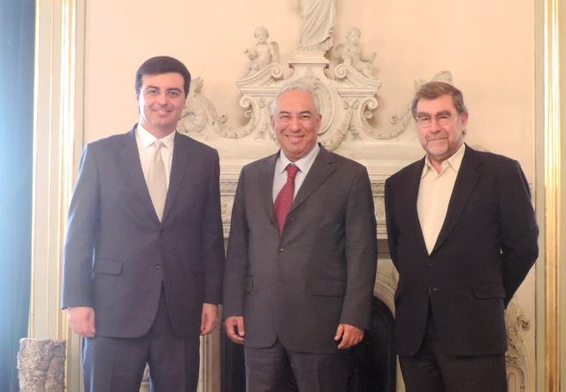 Cervone com o prefeito de Lisboa. Foto: Arquivo pessoal