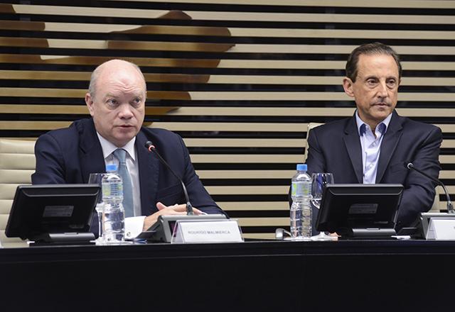 Ministro Rodrigo Malmierca e o presidente da Fiesp, Paulo Skaf. Foto: Helcio Nagamine/Fiesp