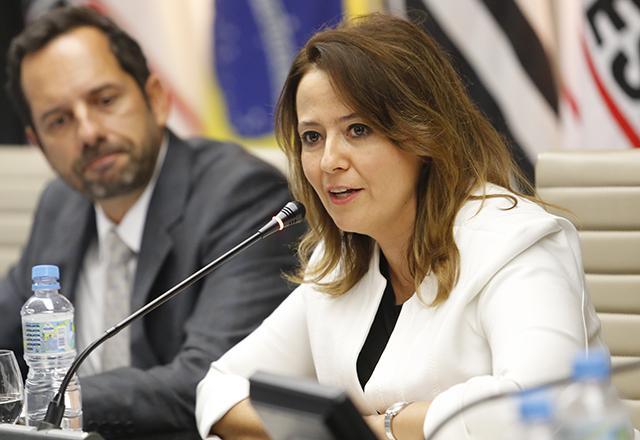 Secretária de Meio Ambiente de SP, Patrícia Faga Iglecias, na abertura da 17ª Semana do Meio Ambiente. Foto: Everton Amaro/Fiesp