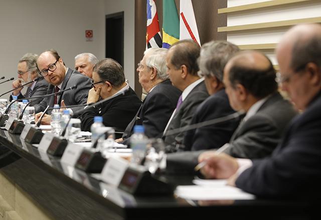 Reunião do Cosec da Fiesp reuniu o cientista político, Fernando Abrucio, e o deputado Ricardo Barros. Foto: Helcio Nagamine/Fiesp