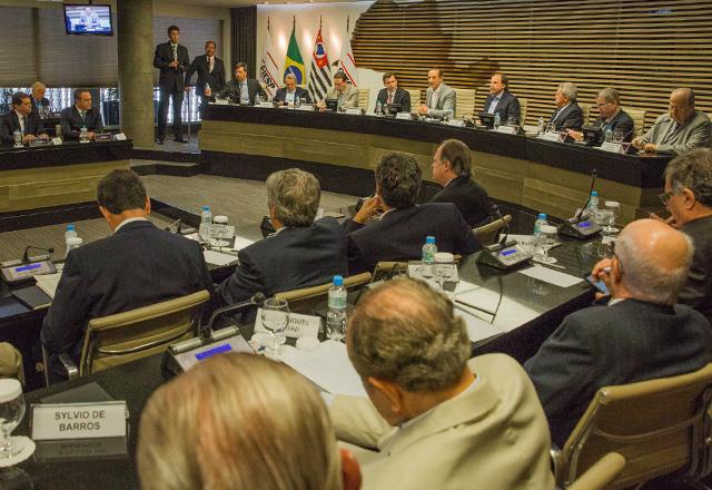 Reunião na Fiesp entre empresários e o presidente do Banco do Brasil, Paulo Caffarelli. Foto: Everton Amaro/Fiesp