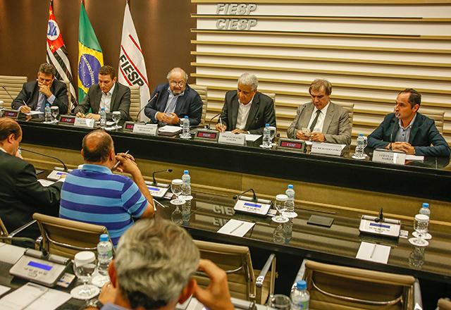 Reunião do Code, da Fiesp, com a participação de Paulo Maiurino e Jorge Damião. Foto: Everton Amaro/Fiesp