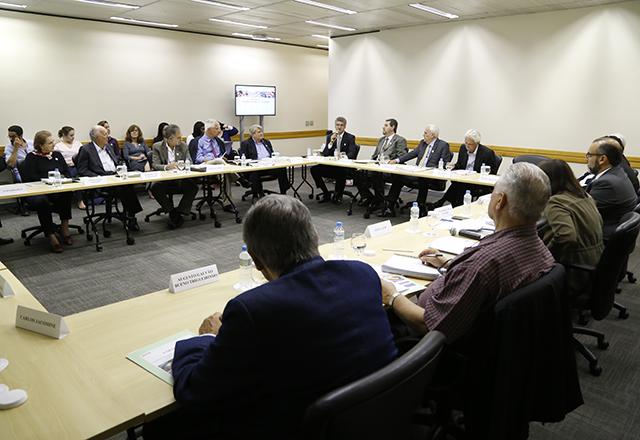 Reunião do Comitê da Cadeia Produtiva do Papel, Gráfica e Embalagem da Fiesp, em 6 de abril. Foto: Helcio Nagamine/Fiesp
