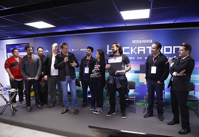 Paulo Skaf anuncia vencedores do 6º Hackathon da Fiesp. Foto: Helcio Nagamine/Fiesp