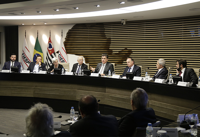 Reunião conjunta do Cosag e do Cosec, da Fiesp, com análise do segundo turno da eleição. Foto: Helcio Nagamine/Fiesp