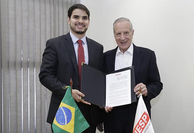 Stivalet e Reis na assinatura de acordo de cooperação técnica. Foto: Helcio Nagamine/Fiesp