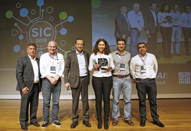 Skaf e Terra na entrega do Prêmio Roberto Mange. Foto: Ayrton Vignola/Fiesp