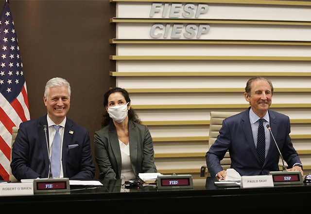Em visita à Fiesp, Conselheiro de Segurança Nacional dos EUA anuncia intenção do seu governo fazer investimentos milionários no Brasil